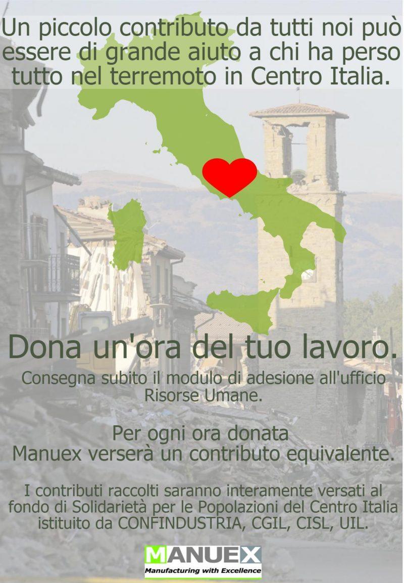 Adesione Fondo di Solidarietà per Sisma Centro Italia